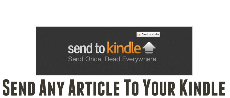 Send To Amazon Kindle