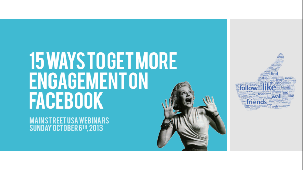 15 Ways to Get More Engagement on Facebook - October 6th