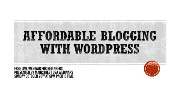 WordPress Blogging Webinar 10202013 600 px