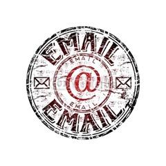 email stamp retro