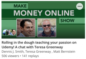 Rolling in the dough teaching your passion on Udemy! A chat with Teresa Greenway
