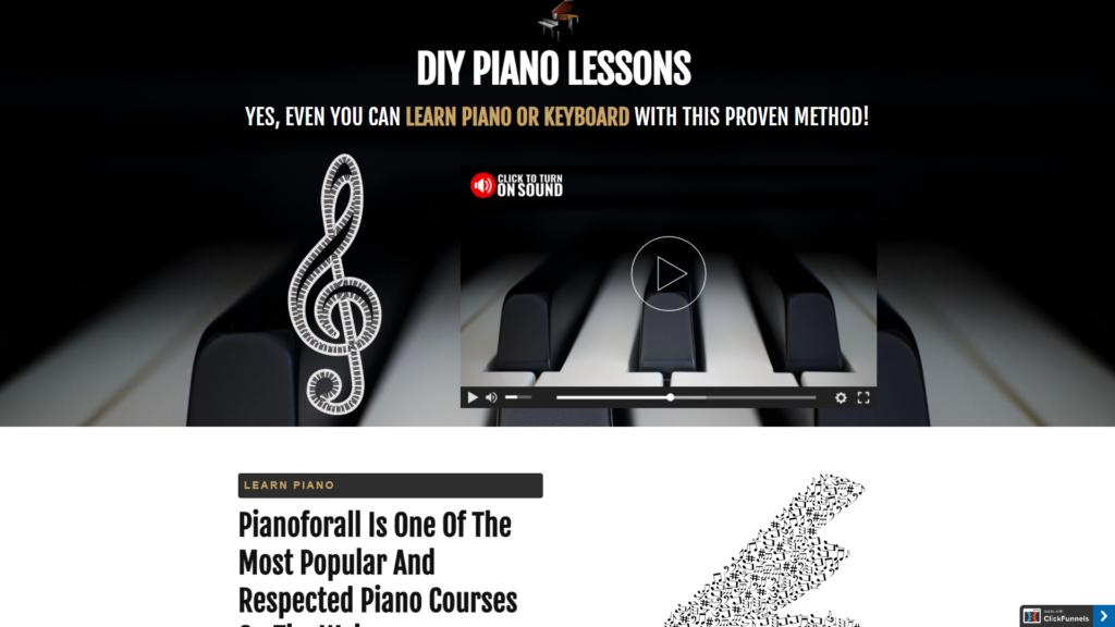 DIY Piano Funnel
