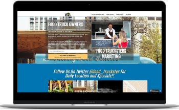 Food Truck Funnel for Funnel Rolodex - Option 2 on Laptop