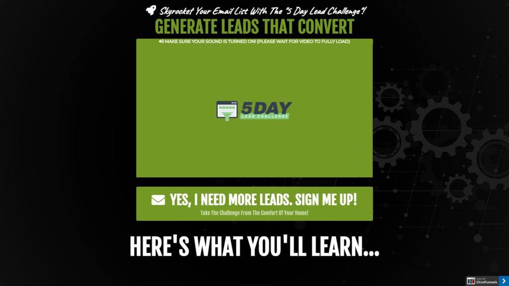 5-Day Lead Growth Challenge
